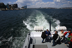 Slovenian hockey team  at whale watching boat, during IIHF WC 2008 in Halifax,  on May 07, 2008, sea at Halifax, Nova Scotia,Canada.(Photo by Vid Ponikvar / Sportal Images)