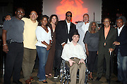 l to r: Josh X, Pierre Sutton and Musa with WBLS  Executives at The Josh X showcase sponsored by MusaEntertainment and held at SOB's on August 27, 2009 in New York City
