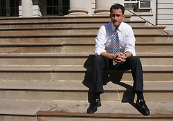 October 29, 2016 - File - The presidential campaign was rocked on Friday after federal law enforcement officials said that emails pertinent to the closed investigation into Hillary Clinton's private email server were discovered on a computer belonging to ANTHONY D. WEINER, the estranged husband of a top Clinton aide. In a letter to Congress, the F.B.I. director, James B. Comey, said the emails had surfaced in an unrelated case, which law enforcement officials said was an F.B.I. investigation into illicit text messages from Mr. Weiner to a 15-year-old girl in North Carolina. Mr. Weiner, a former Democratic congressman from New York, is married to Huma Abedin, the top aide. Pictured: Oct 12, 2008 - Manhattan, New York, USA - Rep. ANTHONY WEINER responds to City Council Speaker Christine Quinn's press conference in which she announced support for the legislation put forward by Mayor Michael Bloomberg to extend term limits from two to three terms. In a statement released by Rep. Weiner he states that a ''backroom deal'' was made between Mayor Michael Bloomberg and Speaker Christine Quinn.  (Credit Image: © Bryan Smith/ZUMA Press) RESTRICTIONS:  * New York City Newspapers Rights OUT *