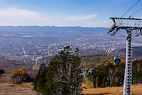 Russia, Sakhalin, Yuzhno-Sakhalinsk. Gorny Vozdukh Ski center is an alpine complex located within Yuzhno-Sakhalinsk city, with a brand new gondola lift. Panorama view.