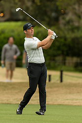 March 23, 2018 - Austin, TX, U.S. - AUSTIN, TX - MARCH 23:  Paul Casey watches his ball during the WGC-Dell Technologies Match Play Tournament on March 22, 2018, at the Austin Country Club in Austin, TX.  (Photo by David Buono/Icon Sportswire) (Credit Image: © David Buono/Icon SMI via ZUMA Press)