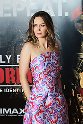 © Licensed to London News Pictures. 28/05/2014, UK. Emily Blunt, Edge of Tomorrow - World Film Premiere, BFI IMAX, London UK, 28 May 2014. Photo credit : Richard Goldschmidt/Piqtured/LNP