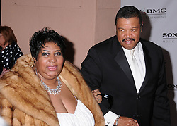 February 10, 2008 - Beverly Hills, CA, U.S. - 10 February 2008 - Beverly Hills, California - Aretha Franklin and guest. Sony BMG's 2008 Post Grammy Awards Party at the Beverly Hills Hotel. Photo Credit: Byron Purvis/AdMedia (Credit Image: © Byron Purvis/AdMedia via ZUMA Wire)