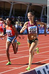 Charlotta Fougberg of Sweden winning the 3000m steeplechase. Folksam Grand Prix Göteborg, Slottskogsvallen, 14. juni 2014.
