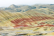 The colorful hills of the John Day Fossil Beds National Monument - Painted Hills Unit, in central Oregon.