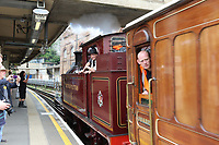 Metropolitan No.1 steam locomotive, Steam on the Underground – District 150, District Line 150th Anniversary, Acton Town Tube Station, London, UK, 23 June 2019, Photo by Richard Goldschmidt