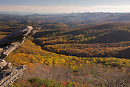 Fall in the Blue Ridge Mountains as seen from Rough Ridge, near mile 302 along the Blue Ridge Parkway