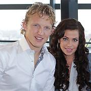 NLD/Rotterdam/20111116 - Presentatie Helden 11 magazine, Dirk Kuyt en partner Gertrude van Vuren