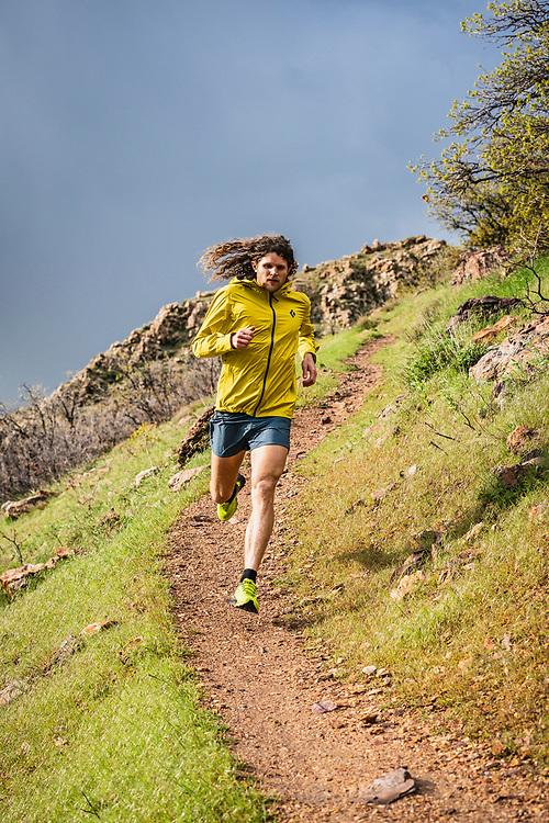 Joe Grant running the Bonneville Shoreline Trail, Salt Lake City, Utah.
