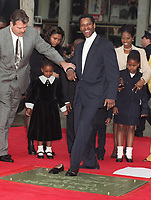 1/15/1998 Denzel Washington's hand/footprint ceremony at Grauman's Chinese Theater