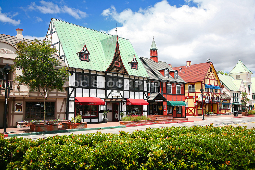 Danish Inspired Architecture in Downtown Solvang California