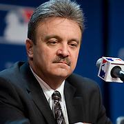 Major League Baseball team owners, managers and coaches held press conferences with the world's media at the annual baseball Winter Meetings in Las Vegas, Nevada.