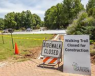 Road and parking construction at the Botanic Gardens at OSU
