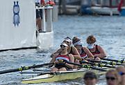 Henley-on-Thames. United Kingdom.  2017 Henley Royal Regatta, Henley Reach, River Thames. <br /> The Diamond Jubilee  Challenge Cup. Gloucester Rowing Club winning the final.<br /> <br /> 16:18:30  Sunday  02/07/2017   <br /> <br /> [Mandatory Credit. Peter SPURRIER/Intersport Images.