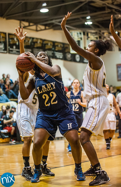 Hickory Ridge's Zhara Brown looks to shoot against Concord Friday night at Concord High School. Hickory Ridge won the game 55-35.