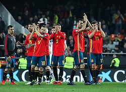 March 23, 2019 - Valencia, Valencia, Spain - Players of Spain in action after European Qualifiers championship, , football match between Spain and Norway, March 23th, in Mestalla Stadium in Valencia, Spain. (Credit Image: © AFP7 via ZUMA Wire)