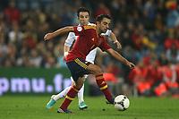 FOOTBALL - FIFA WORLD CUP 2014 - QUALIFYING - SPAIN v FRANCE - 16/10/2012 - PHOTO MANUEL BLONDEAU / AOP PRESS / DPPI -  XAVI HERNANDEZ