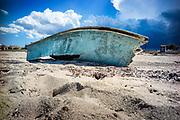 Son Serra de Marina, Mallorca, boat wreck on the beach 16-08-2018
