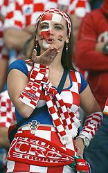 10-06-2012 VOETBAL: UEFA EURO 2012 DAY 3: POLEN OEKRAINE<br /> Match between Croatia and Ireland, group C. Poznan, Poland - Euro 2012 Championship / Support Croatia<br /> ***NETHERLANDS ONLY***<br /> ©2012-FotoHoogendoorn.nl