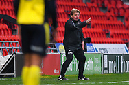 Stuart McCall of Scunthorpe United (Manager) during the EFL Sky Bet League 1 match between Doncaster Rovers and Scunthorpe United at the Keepmoat Stadium, Doncaster, England on 15 December 2018.