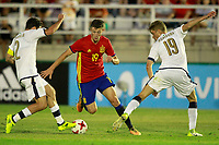 Spain's Marc Gual (c) and Italy's Calabria (l) and Romagna during international sub 21 friendly match. September 1,2017.(ALTERPHOTOS/Acero)