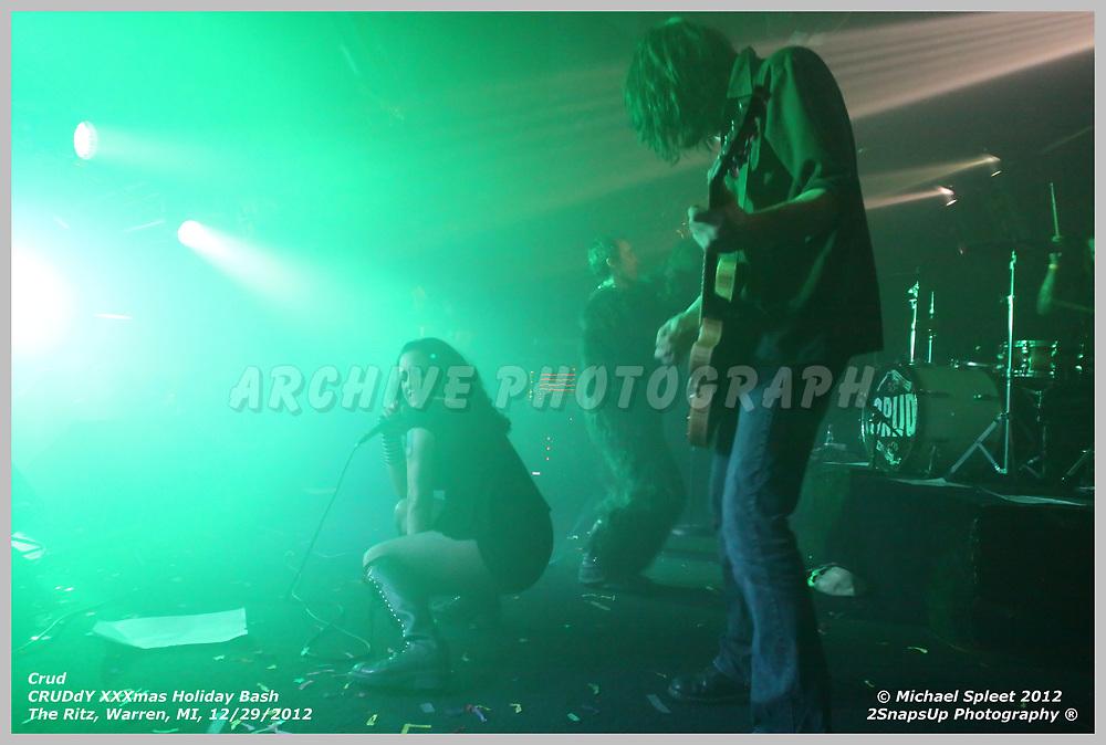 WARREN, MI, SUNDAY, DEC. 30, 2012 : Crud, CRUDdY XXXmas Holiday Bash,  at The Ritz, Warren, MI, 12/30/2012.  (Image Credit: Michael Spleet / 2SnapsUp Photography)