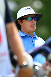 May 4, 2019 - Charlotte, NC, U.S. - CHARLOTTE, NC - MAY 04: Joel Dahmen walks to the fairway on hole three during round three of the Wells Fargo Championship on May 04, 2019 at Quail Hollow Club in Charlotte,NC. (Photo by Dannie Walls/Icon Sportswire) (Credit Image: © Dannie Walls/Icon SMI via ZUMA Press)
