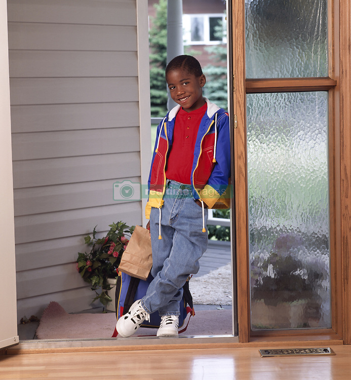July 21, 2019 - Portrait Of Boy With A Backpack (Credit Image: © Ron Nickel/Design Pics via ZUMA Wire)