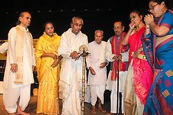 May 5, 2018 - Guwahati, Assam, India - Satriya dance guru Padma Shri Surya Hazarika during a 'Sangeet Satra Samabartanâ (Credit Image: © David Talukdar/Pacific Press via ZUMA Wire)