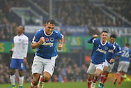 Portsmouth Midfielder, Gary Roberts (11) celebrates after scoring a goal 1-0 during the EFL Sky Bet League 2 match between Portsmouth and Mansfield Town at Fratton Park, Portsmouth, England on 12 November 2016. Photo by Adam Rivers.