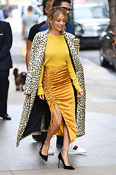 Nicole Richie steps out in all yellow for appearance on the Today show. 27 Sep 2017 Pictured: Nicole Richie. Photo credit: STB / MEGA TheMegaAgency.com +1 888 505 6342