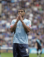 Fotball<br /> England<br /> Foto: Fotosports/Digitalsport<br /> NORWAY ONLY<br /> <br /> Coventry City vs Leicester City 03/10/09 Coventry City's Leon Best reacts after missing an opportunity