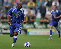 Photo: Lee Earle.<br /> Yeovil Town v Cardiff City. Pre Season Friendly. 21/07/2007.Cardiff's recent signing Trevor Sinclair.