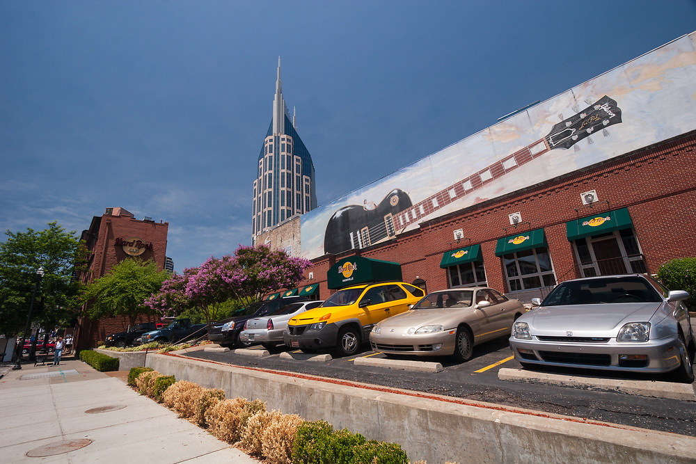 Lower Broadway, Nashville, Tennessee, USA. Lower Broadway is home to many famous honky tonk bars.