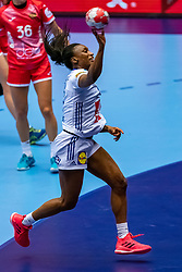 Siraba Dembele Pavlovic of France in action during the Women's EHF Euro 2020 match between France and Russia at Jyske Bank BOXEN on december 11, 2020 in Kolding, Denmark (Photo by RHF Agency/Ronald Hoogendoorn)