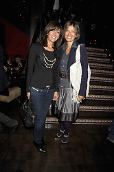 Left to right, TESSA BROWN and MAYA FIENNES at the opening of the Buddha Bar, Victoria Embankment, London on 8th September 2008.<br /> <br /> NON EXCLUSIVE - WORLD RIGHTS