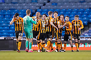 Goal, Portsmouth 0-4 Hull City, Hull City players their 4th goal during the EFL Sky Bet League 1 match between Portsmouth and Hull City at Fratton Park, Portsmouth, England on 23 January 2021.