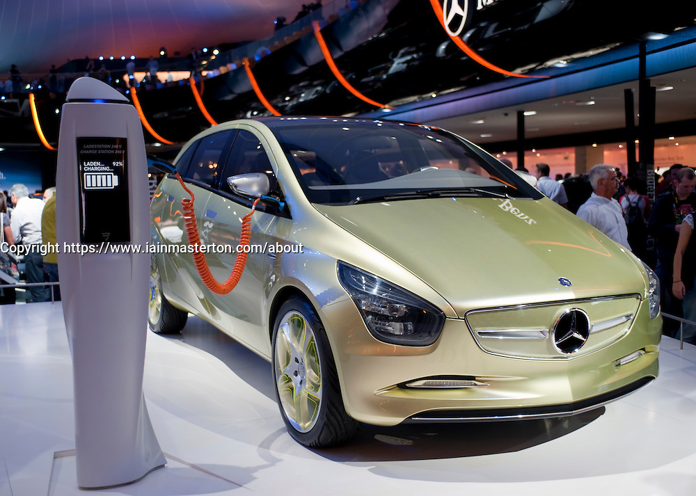 Mercedes Blue Zero lithium battery powered electric car prototype on show at the Frankfurt Motor Show 2009