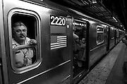 USA, NY, New York City, Manhattan, Subway station