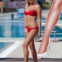 Henriett Olle participates the Miss Bikini Hungary beauty contest held in Budapest, Hungary on August 29, 2010. ATTILA VOLGYI