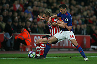 Football - 2016 / 2017 Premier League - Southampton vs. Manchester United<br /> <br /> Southampton's James Ward-Prowse holds Matteo Darmian of Manchester United off the ball at St Mary's Stadium Southampton<br /> <br /> COLORSPORT/SHAUN BOGGUST