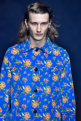 Model Dominik Hahn walks on the runway during the Gucci Fashion Show during Milan Fashion Week Spring Summer 2018 held in Milan, Italy on September 20, 2017. (Photo by Jonas Gustavsson/Sipa USA)