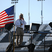 Owner Jack Roush is seen on his trailer during the  56th Annual NASCAR Daytona 500 practice session at Daytona International Speedway on Wednesday, February 19, 2014 in Daytona Beach, Florida.  (AP Photo/Alex Menendez)