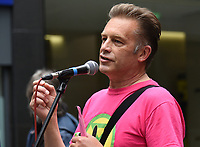 chris packham speeking at Extinction Rebellion march from St Paul's Cathedral to the Bank of England.photos by Krisztian Elek