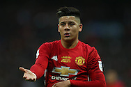 Marcos Rojo of Manchester Utd looks on. EFL Cup Final 2017, Manchester Utd v Southampton at Wembley Stadium in London on Sunday 26th February 2017. pic by Andrew Orchard, Andrew Orchard sports photography.