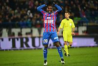 Deception Lenny NANGIS - 05.12.2014 - Caen / Nice - 17eme journee de Ligue 1 -<br />Photo : Dave Winter / Icon Sport