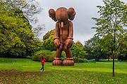 Small Lie by Kaws, The Sculpture Park - Frieze London and Frieze Masters 2014, Regents Park, London, 14 Oct 2014.