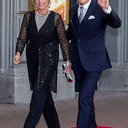 NLD/Amsterdam/20150926 - Afsluiting viering 200 jaar Koninkrijk der Nederlanden, aankomst Prinses Laurentien en Prins Contantijn