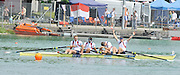 Munich, GERMANY,  Sunday finals. Gold Medalist  GBR M4-. Bow. Matt  LANGRIDGE, Rick EGINGTON, Tom JAMES and Alex GREGORY.. FISA World Cup on the Munich Olympic Rowing Course,  Sunday  29/05/2011  [Mandatory Credit Peter Spurrier/ Intersport Images]
