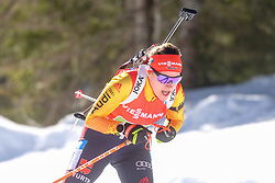 Hettich Janina of Germany competes during the IBU World Championships Biathlon 4x6km Relay Women competition on February 20, 2021 in Pokljuka, Slovenia. Photo by Vid Ponikvar / Sportida